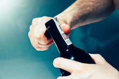 Wine Bottle Open Royalty Free Stock Images