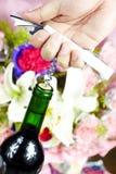 Wine bottle opener Royalty Free Stock Image