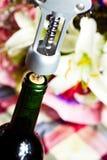 Wine bottle opener macro Stock Photography