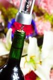 Wine bottle opener macro Royalty Free Stock Photo