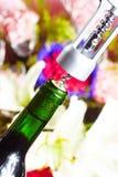 Wine bottle opener macro Royalty Free Stock Photos