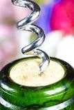 Wine bottle opener macro Stock Photo