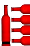 Wine bottle pattern royalty free stock images