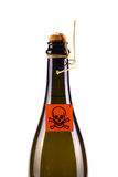 Wine Bottle with poison symbol royalty free stock photography