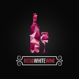 Wine bottle poly design background Royalty Free Stock Images