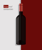 Wine bottle red Royalty Free Stock Photography