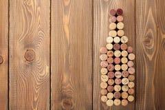 Wine bottle shaped corks Stock Photo
