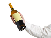 Wine bottle show Royalty Free Stock Photos