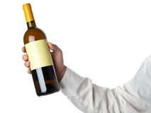 Wine bottle show Royalty Free Stock Images