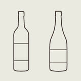 Wine bottle sign set. Bottle icon Stock Photo