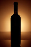 Wine bottle silhouette in vintage style Royalty Free Stock Photography