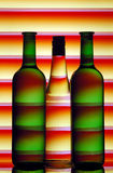 Wine bottle silhouettes Royalty Free Stock Image