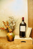Wine bottle and still life. Stock Images
