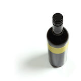 Wine bottle top view. Wine bottle isolated top view Royalty Free Stock Photography