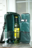Wine bottle tote bag Stock Photography