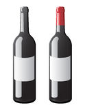 Wine Bottle vector Royalty Free Stock Photos