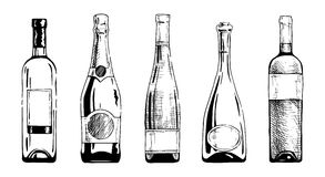 Wine bottle vector illustration
