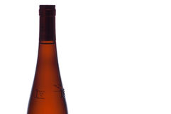 Wine bottle before a white background Stock Photo