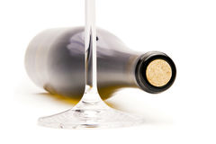 Wine bottle on white background. Stock Images
