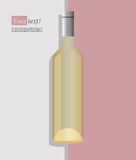 Wine bottle white Stock Images