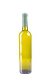 Wine bottle with white wine Stock Images
