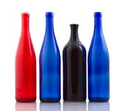 Wine Bottles. Four wine bottles.Wine Bottles Stock Images