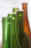 Wine bottles. Row of empty wine bottles royalty free stock image