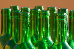 Wine bottles. Glass and recycling Stock Photo