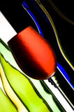 Wine and bottles Stock Images