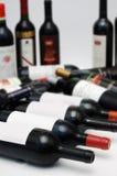 Wine bottles. A lot of wine bottles royalty free stock image