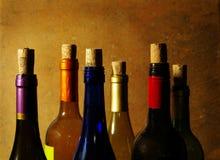 Wine bottles Stock Image