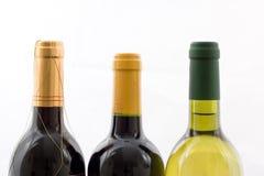 Wine bottles. Three wine bottles on a white background Royalty Free Stock Image