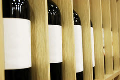 Wine bottles Stock Images
