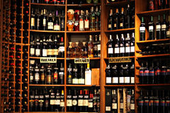 Wine bottles Stock Photo