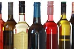 Wine bottles. Group of wine bottles isolated on white background Royalty Free Stock Image