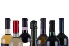 Wine Bottles Royalty Free Stock Photo