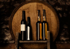 Wine bottles. In a cellar Stock Photo
