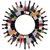 Wine bottles stock illustration