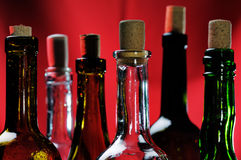 Wine bottles. Royalty Free Stock Images