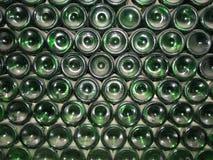 Wine Bottles. Stack of green wine bottles Stock Photo