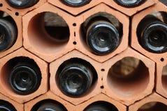 Wine bottles. Empty wine bottles outside a restaurant Stock Photo