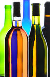 Wine Bottles Abstract Royalty Free Stock Photos