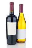 Wine Bottles with Blank Labels Royalty Free Stock Image