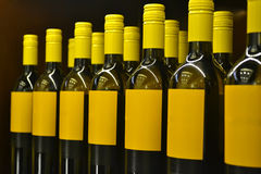 Wine bottles. With blank labels Stock Photo