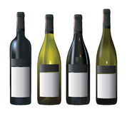 Wine Bottles with Blank Labels Royalty Free Stock Images