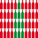Wine bottles. Bottle silhouette, pattern with wine bottles Royalty Free Stock Images