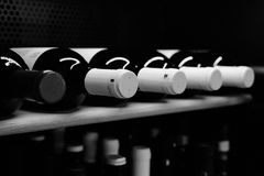 Wine bottles. Bottles of branded Italian Wine Stock Photos