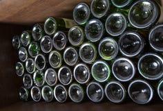 Wine bottles in a cellar Stock Photos