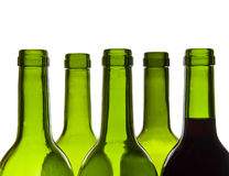 Wine bottles close-up Stock Image