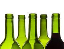 Wine bottles close-up Stock Image